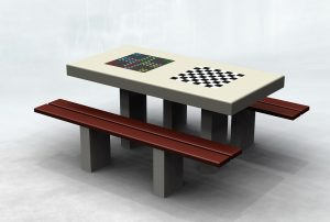 Stół do gry w szachy i chińczyka