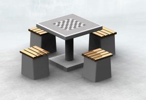 Stół betonowy do gry w szachy